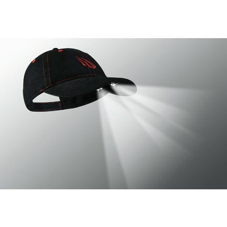 Panther Vision - 4 LED POWERCAP Gorra con luz led color negro con serigrafia naranja