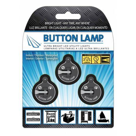 Panther Vision - Button Lamp Lámparas utilitarias luz led brillante 3unds para interior, exterior y sumergibles