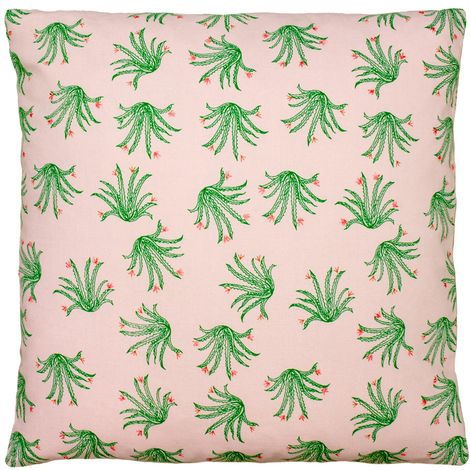 Paoletti Blush Cactus Cushion Cover (One Size) (Pink/Green)