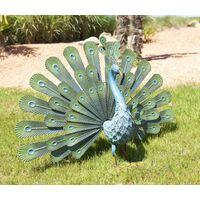 """Paon décoratif en métal pour jardin """"Peacock"""""""