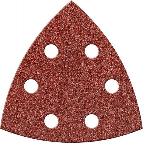 Papel abrasivo triangular Velcro 94mm K 80,Kor.,6L. FORTIS