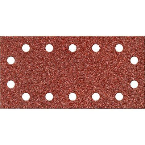 Papel abrasivo Velcro rectangular Kor.115x230mm,K 80,14L.FORTIS
