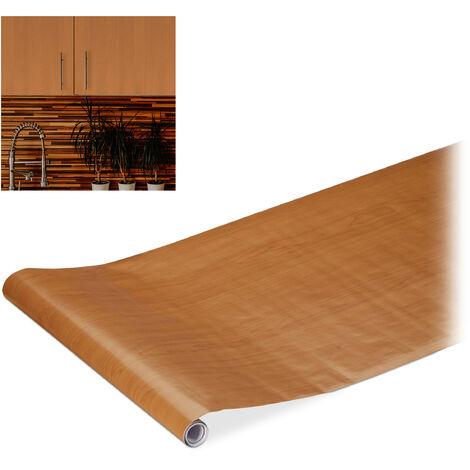 Papel adhesivo para muebles, Bricolaje, Obras, Vinilo autoadhesivo, PVC, 45x200 cm, 1 Ud., Madera marrón