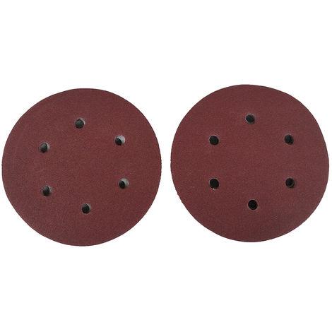 Papel de lija de gancho, con 8 agujeros,125mm,60 granos,100 piezas