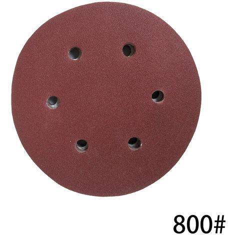Papel de lija de gancho, con 8 agujeros,125mm,800 granos,100 piezas