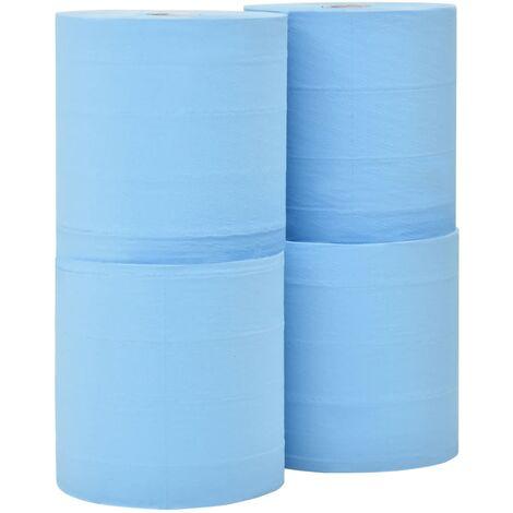Papel de limpieza industrial 3 capas 4 rollos 26 cm
