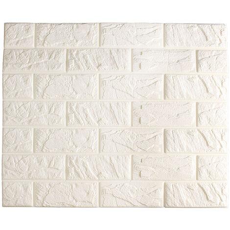 Papel pintado adhesivo impermeable de la pared de ladrillo 3D del rollo de los 60x50cm para la decoración casera