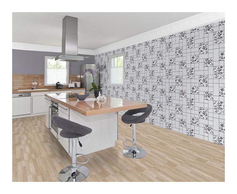 Azulejos de cocina fabulous azulejo blanco brillo rectificado cocina with azulejos de cocina - Papel pintado para cocinas modernas ...