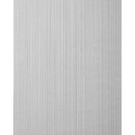 Papel pintado con rayas EDEM 557-16 papel pintado vinílico espumado texturado de aspecto textil mate gris blanco-grisáceo gris señales gris plata 5,33 m2