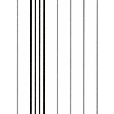 Papel pintado con rayas EDEM 85025BR20 papel pintado vinílico liso de estilo tradicional con acentos metálicos blanco negro plata 5,33 m2