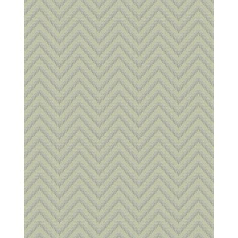 Papel pintado con rayas Profhome BA220093-DI papel pintado vinílico estampado en caliente tejido non tejido gofrado con rayas y acentos metálicos gris plata 5,33 m2