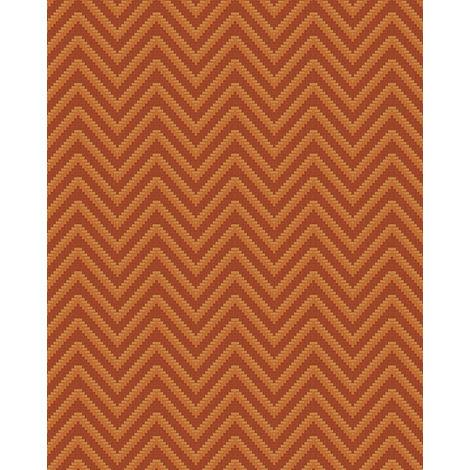 Papel pintado con rayas Profhome BA220095-DI papel pintado vinílico estampado en caliente tejido non tejido gofrado con rayas y acentos metálicos marrón oro 5,33 m2