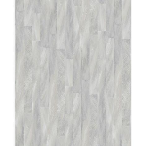 Papel pintado con rayas Profhome VD219141-DI papel pintado vinílico estampado en caliente tejido non tejido gofrado con dibujo gráfico sutilmente satinado plata gris 5,33 m2