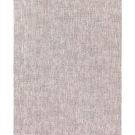 Papel pintado con textura de tela de lino en vinílico EDEM 228-43 espumado rosado claro beige blanco 15 m