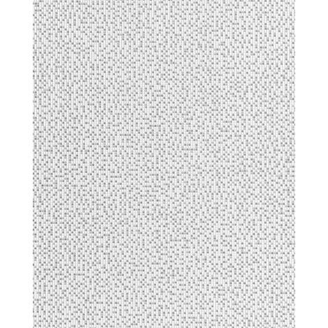 Papel pintado de diseño mosaico EDEM 1024-16 moderno tipo píxel glitter decente lavable gris blanco plata