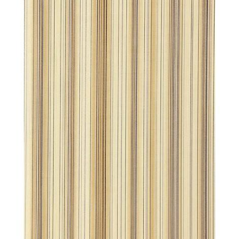 Papel pintado diseño a rayas suntuosas EDEM 097-21 moderno y precioso marrón marrón oscuro rosa beige plata 5,33 m2