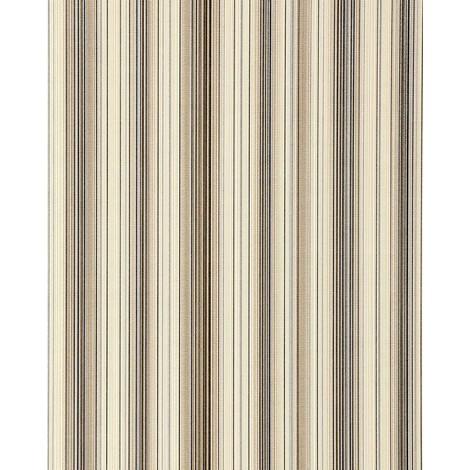 Papel pintado diseño a rayas suntuosas EDEM 097-23 moderno y precioso marrón marrón claro beige plata negro 5,33 m2