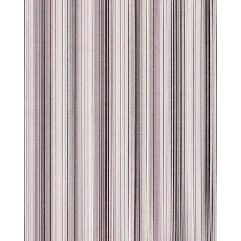 Papel pintado diseño a rayas suntuosas EDEM 097-24 moderno y precioso violeta lila blanco plata negro 5,33 m2