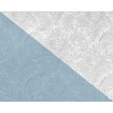 Papel pintado floral EDEM 83006BR60 Papel pintado no tejido para pintar texturado con ornamentos mate blanco 26,50 m2