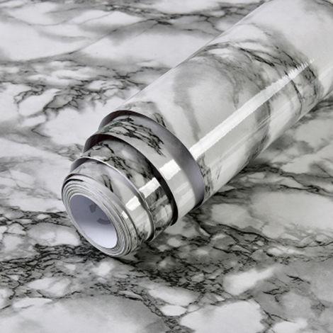 Papel pintado impermeable, papel pintado autoadhesivo de PVC, patron de marmol,10m,2#
