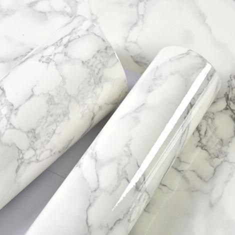Papel pintado impermeable, papel pintado autoadhesivo de PVC, patron de marmol,5m, 1#