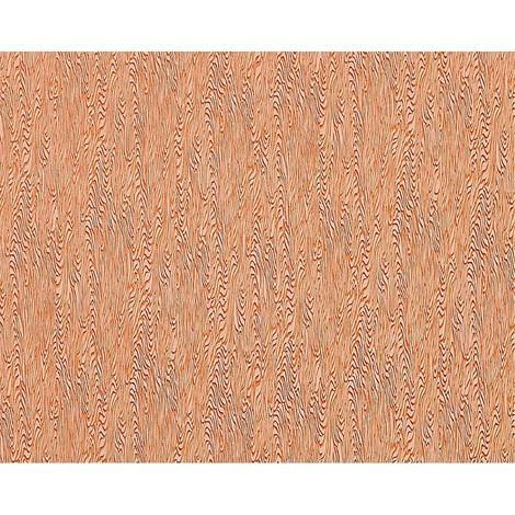 Papel pintado no tejido EDEM 672-91 textura decorativa estilizada de madera en rojo azulejo marrón y glitter 10,65 m2