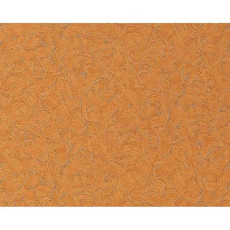 Papel pintado no tejido gofrado EDEM 925-36 en relieve de estuco decorativo veneciano en marrón caramelo noble 10,65 m2
