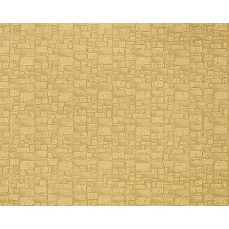 Papel pintado no tejido imitación piedra con textura de lujo y efecto EDEM 922-29 muro relieve en verde oliva 10,65 m2