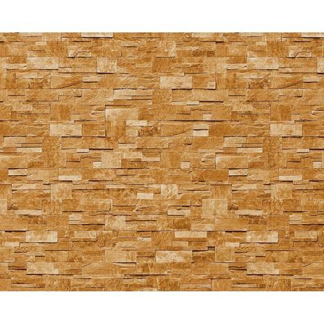 Papel pintado no tejido XXL EDEM 918-31 relieve aspecto piedra natural piedra de cantera rojizo marrón claro 10,65 qm