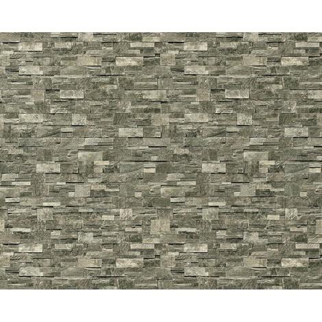 Papel pintado no tejido XXL EDEM 918-36 con relieve aspecto piedra natural piedra de cantera gris piedra 10,65 qm