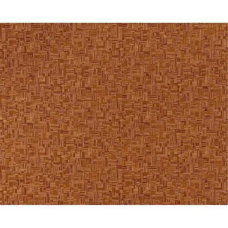 Papel pintado no tejido XXL texturado dibujo mosaico bambú EDEM 951-25 aspecto madera chocolate beige oscuro 10,65 m2