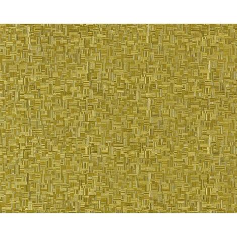 Papel pintado no tejido XXL texturado dibujo mosaico bambú EDEM 951-28 aspecto madera verde aceituna pistacho 10,65 m2