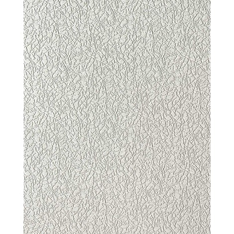 Papel pintado texturado de yeso EDEM 206-40 crash con textura de estuco en vinílico espumado blanco 15 m