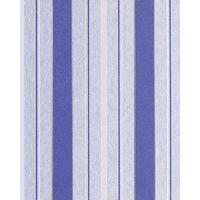 Papel pintado texturado diseño rayas gruesas EDEM 069-22 finas azul cobalto azul cielo blanco plata glitter