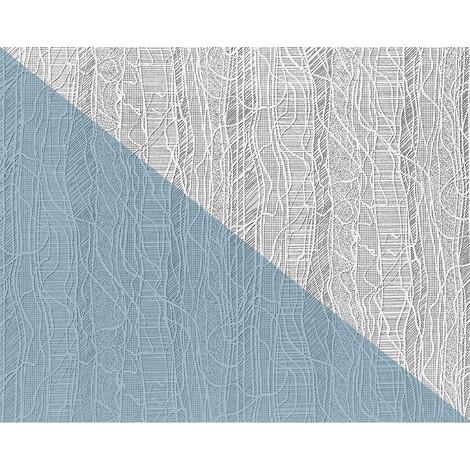 Papel pintado XXL no tejido blanco EDEM 80341BR60 con textura de tela para pintar encima 26,50 m2