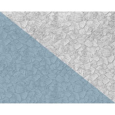 Papel pintado XXL no tejido blanco pintable EDEM 80309BR60 con textura de estuco espatulado para pintar encima 26,50 m2