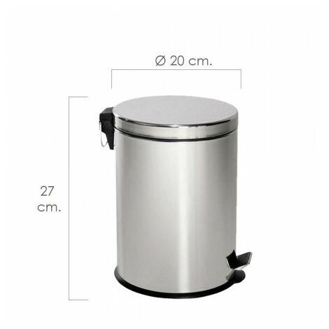 Papelera maurer inoxidable 3 litros 17x26 cm.