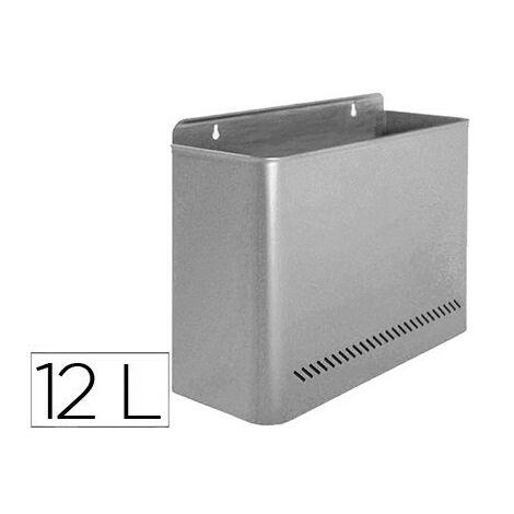 "main image of ""Papelera metalica 99 de pared 285x125x325 gris"""