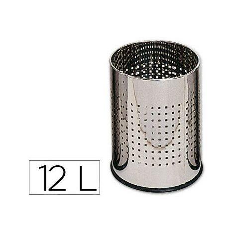 CABLEPELADO Papelera Malla Metalica 12 litros Gris