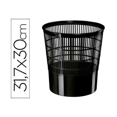 Papelera plastico cep ecoline rejilla negra 30x30x31,7 cm