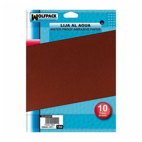 Papier abrasif à l'eau maurer grain 220 (pack 10 plis)