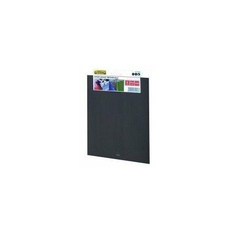 Papier abrasif imperméable a l'eau - 4 feuilles grain 120