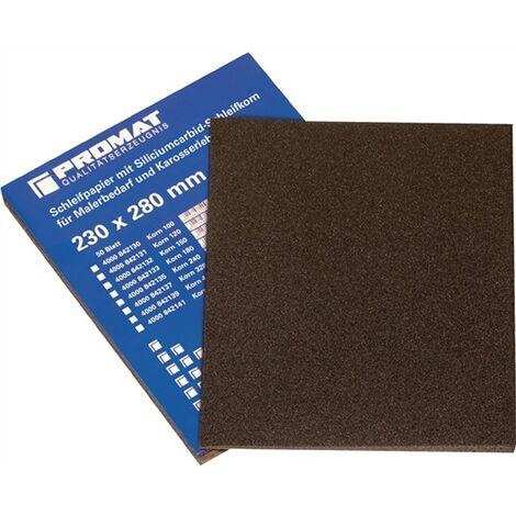 Papier abrasif L280xl230mm Granulation 600 pour vernis/métal SiC