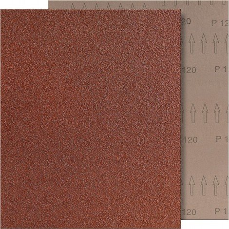 "main image of ""Papier abrasif marron 280x230mm, Grain 120 FORTIS"""