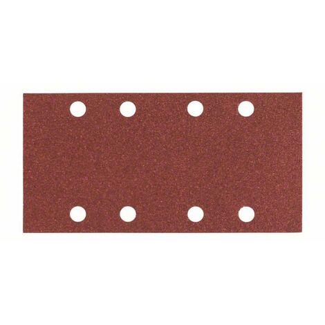 Papier abrasif pour ponceuse vibrante avec bande auto-agrippante, perforé Bosch Accessories 2608605304 Grain 80 (L x l)