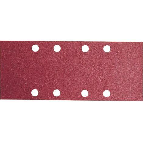 Papier abrasif pour ponceuse vibrante avec bande auto-agrippante, perforé Bosch Accessories 2609256A82 Grain 80 (L x l)