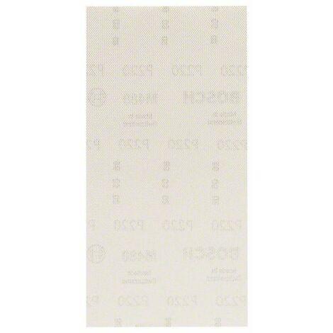 Papier abrasif pour ponceuse vibrante Bosch Accessories 2608621266 2608621266 Grain num 220 (Ø x L) 115 mm x 230 mm 10