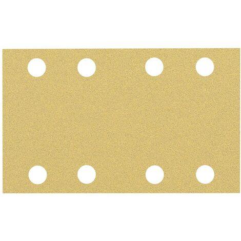 Papier abrasif pour ponceuse vibrante Bosch Accessories EXPERT C470 2608900879 perforé Grain num 80 (L x l) 133 mm x 80