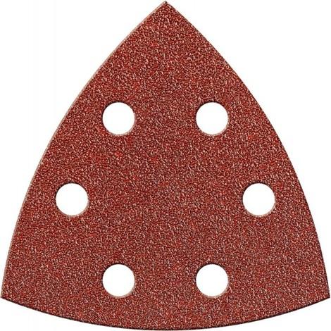 Papier abrasif triangulaire Velcro 94mm K120,Kor.,6L. FORTIS