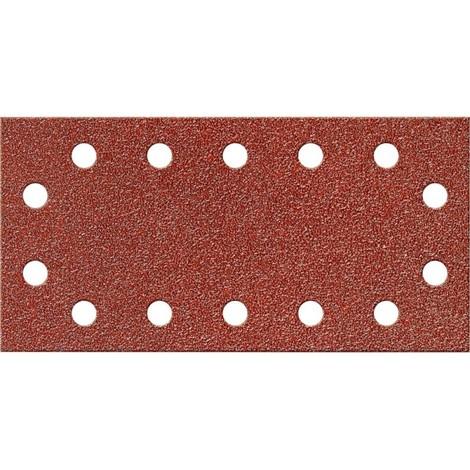 Papier abrasif Velcro rectangulaire Kor.115x230mm,K 40,14L.FORTIS